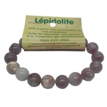 lépidolite bracelet moyennes boules