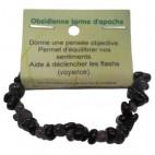 obsidienne larme d'apache bracelet baroque