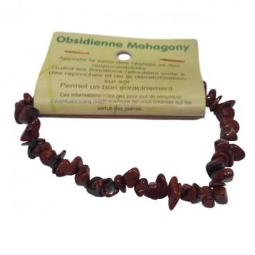obsidienne mahagony bracelet baroque
