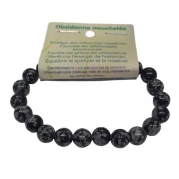 obsidienne mouchetée bracelet moyennes boules