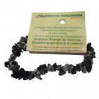 obsidienne mouchetée bracelet baroque