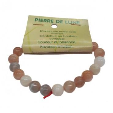 pierre de lune bracelet moyennes boules
