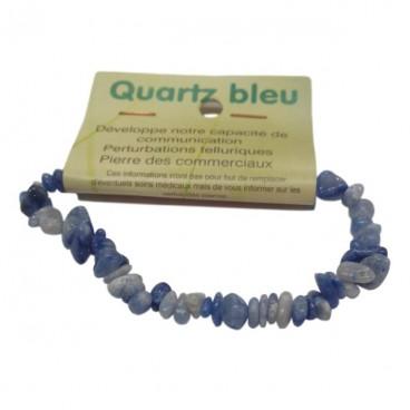 quartz bleu bracelet baroque