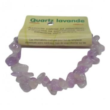 quartz lavande bracelet baroque