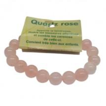 quartz rose bracelet grandes boules