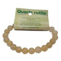 quartz rutile bracelet moyennes boules