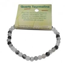 quartz tourmaline bracelet très petites boules
