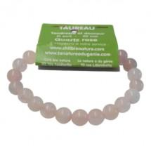 quartz rose bracelet moyennes boules (taureau)