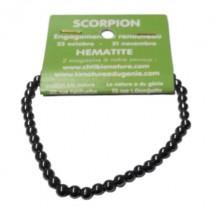 hématite bracelet petites boules (scorpion)
