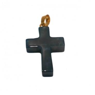 agate mousse croix montée