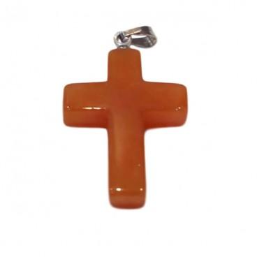 aventurine orange croix montée