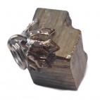pyrite pierre brute montée