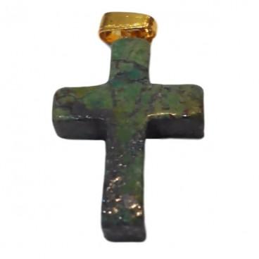 rubis zoïsite croix montée