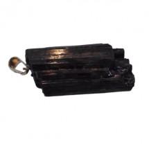 tourmaline noire pierre brute montée