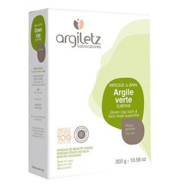 Argile verte surfine - peaux grasses 300g