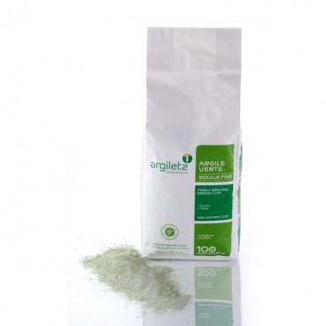 Argile verte - surfine 1kg