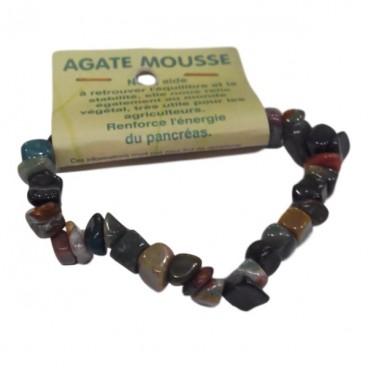 agate mousse bracelet baroque