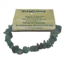 aventurine verte bracelet baroque