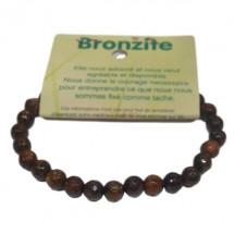 bronzite bracelet petites boules à facettes