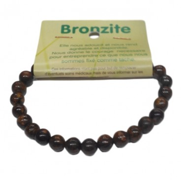 bronzite bracelet petites boules
