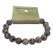 jaspe dalmatien bracelet grandes boules