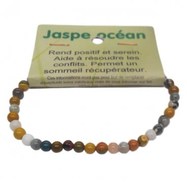 jaspe océan bracelet très petites boules