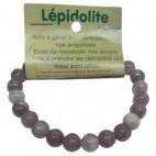 lépidolite bracelet petites boules