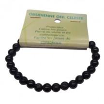 obsidienne oeil céleste bracelet petites boules