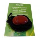 jaspe rouge galet percé en coeur (bélier)