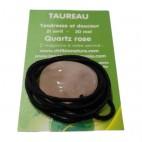 quartz rose galet percé (taureau)