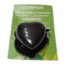 hématite coeur percé (scorpion)