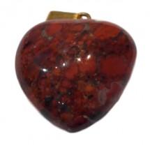 jaspe rouge coeur monté