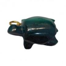 malachite tortue montée