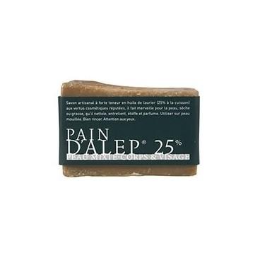 Pain d'alep 25% - hypoallergénique - peau mixte 200g