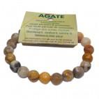 agate bracelet moyennes boules à facettes