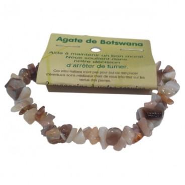 agate de botswana bracelet baroque