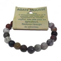 agate mousse bracelet moyennes boules à facettes