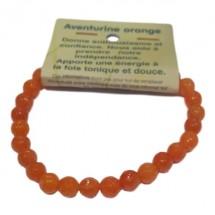 aventurine orange bracelet petites boules à facettes