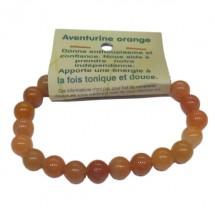aventurine orange bracelet moyennes boules