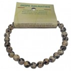 jaspe dalmatien bracelet petites boules